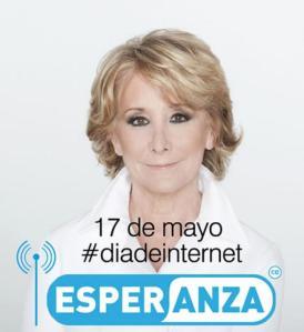 Esperanza Aguirre, día de internet
